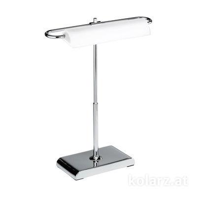 A1317.71.5 Chrom, Weiß, Länge 30cm, Breite 18cm, Höhe 40cm, 1-flammig, LED