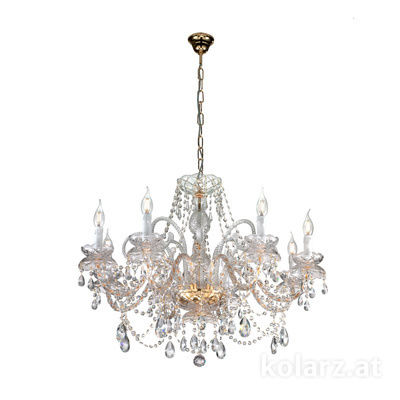 A1335.88 24 Carat Gold, Ø80cm, Height 62cm, Max. height 117cm, 8 lights, E14