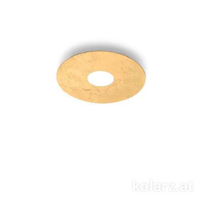 A1336.11.1.Au Blanc, Ø25cm, Hauteur 3cm, 1 lumière, GX53