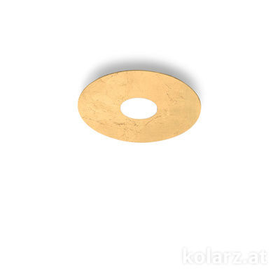 A1336.11.1.Au Blanco, Ø25cm, Altura 3cm, 1 luz, GX53