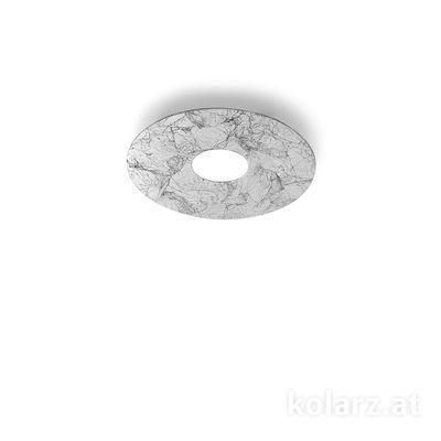 A1336.11.1.VinAg Weiß, Ø25cm, Höhe 3cm, 1-flammig, GX53