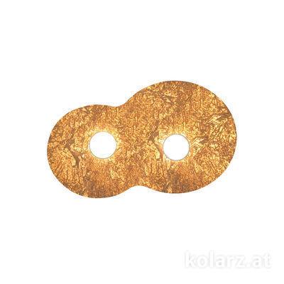 A1336.12.1.VinAu.0 Gold Leaf, Length 32cm, Width 53cm, Height 3cm, 2 lights, GX53