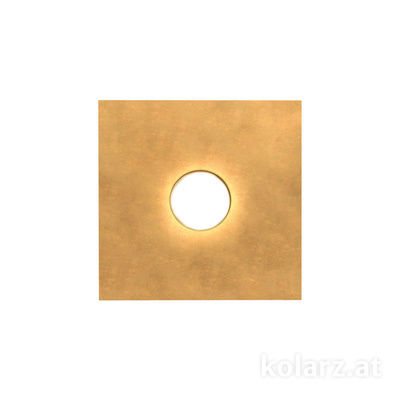 A1337.11.1.Au.0 Gold Leaf, Length 25cm, Width 25cm, Height 3cm, 1 light, GX53