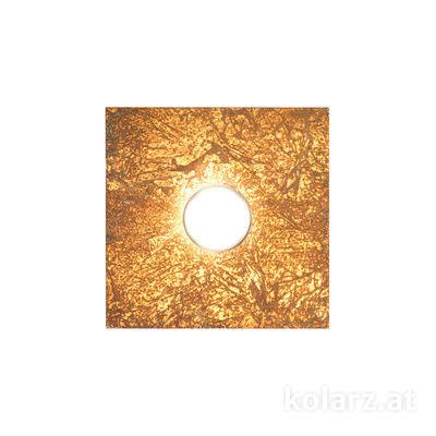 A1337.11.1.VinAu.0 Gold Leaf, Length 25cm, Width 25cm, Height 3.5cm, 1 light, GX53