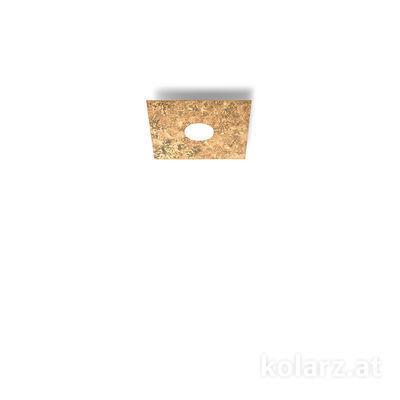 A1337.11.1.VinAu Blanco, Oro, Largo 25cm, Ancho 25cm, Altura 3.5cm, 1 luz, GX53