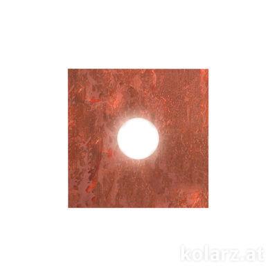 A1337.11.1.VinCu.0 Blattkupfer, Length 25cm, Width 25cm, Height 3.5cm, 1 light, GX53