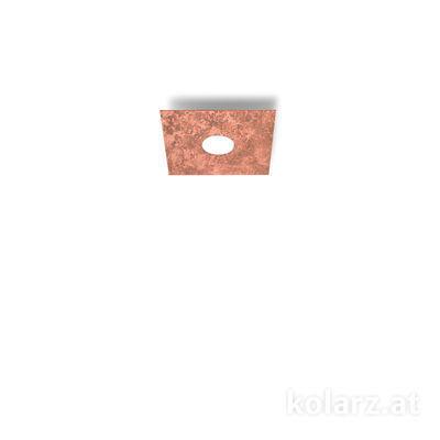 A1337.11.1.VinCu Blanco, Cobre, Largo 25cm, Ancho 25cm, Altura 3.5cm, 1 luz, GX53