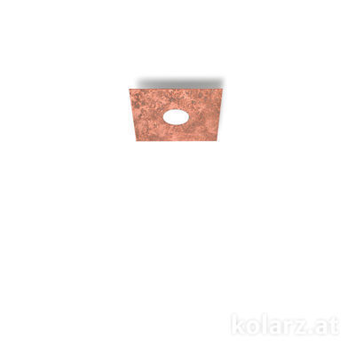A1337.11.1.VinCu Weiß, Kupfer, Länge 25cm, Breite 25cm, Höhe 3.5cm, 1-flammig, GX53
