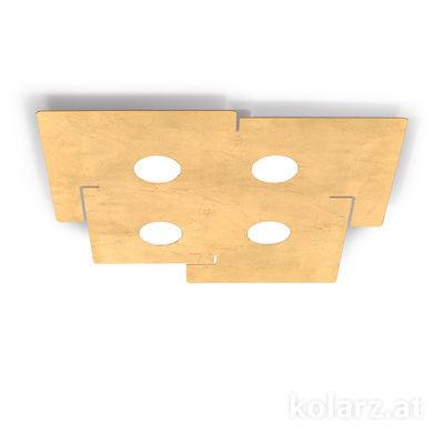 A1337.14.1.Au Blanco, Largo 51cm, Ancho 56cm, Altura 3cm, 4 luces, GX53