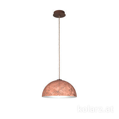 A1339.31.Co.VinCu/40 Corten, Ø40cm, Height 20cm, Max. height 270cm, 1 light, E27