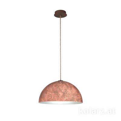 A1339.31.Co.VinCu/50 Corten, Ø50cm, Height 25cm, Max. height 275cm, 1 light, E27
