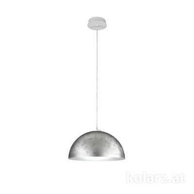 A1339.31.Wm.VinAg/40 Blanc mat, Ø40cm, Hauteur 20cm, Hauteur max. 270cm, 1 lumière, E27