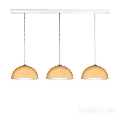 A1339.33.Co.Au/33 White, Length 120cm, Height 250cm, 3 lights, E27
