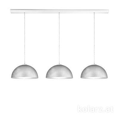 A1339.33.WmAg/33 White, Length 120cm, Height 250cm, 3 lights, E27