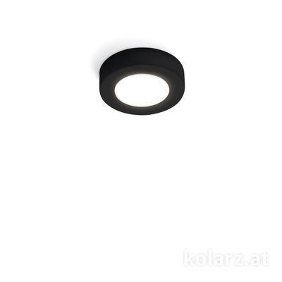 A1344.10R.Bk Black Matt, Ø12cm, Height 3cm, 1 light, GX53