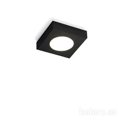 A1345.10Q.Bk Black Matt, Ø30cm, Height 3cm, 1 light, GX53