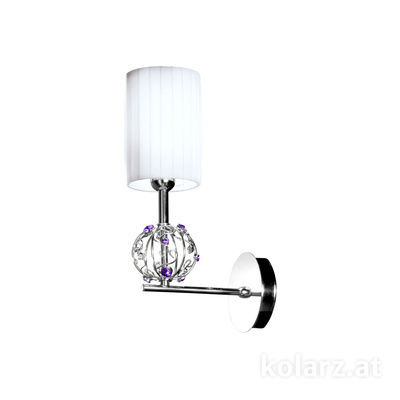 FLO.1095/A1.01.V.WH Chrome, Height 35cm, 2 lights, E14