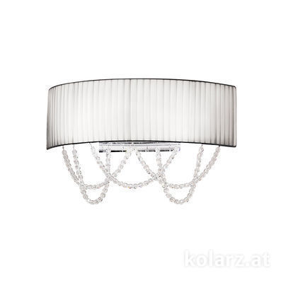 FLO.1097/A2.03.T-WH Chrome, White, Width 40cm, Height 20cm, 2 lights, G9