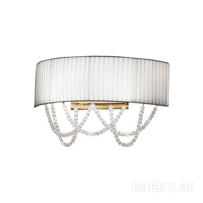 FLO.1097/A2.04.T-WH 24 Carat Gold, White, Width 40cm, Height 20cm, 2 lights, G9