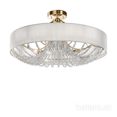 FLO.1097/PL80 04T-WH 24 Carat Gold, White, Ø80cm, Height 45cm, 12 lights, G9