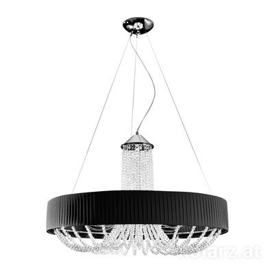 FLO.1097/S60 03 T-BL Chrome, Black, Ø60cm, Height 60cm, Min. height 80cm, Max. height 160cm, 6 lights, G9