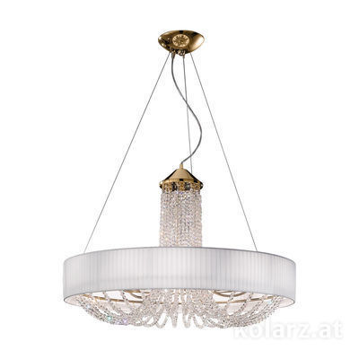 FLO.1097/S60 04 T-WH 24 Carat Gold, White, Ø60cm, Height 60cm, Min. height 80cm, Max. height 160cm, 6 lights, G9