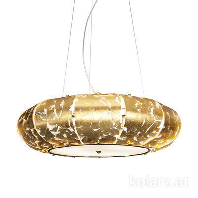 FLO.1106/S70 04-W 24 Carat Gold, Ø70cm, Height 45cm, Min. height 35cm, Max. height 150cm, 3 lights, E27