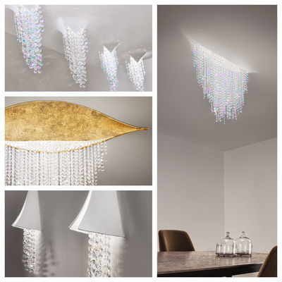pseudo-3 Perfect illusion: Sparkling crystals seem to burst directly out of the ceiling or wall. An inspiring innovative crystal light.