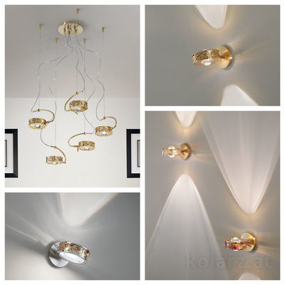 pseudo-11 Endless fascination: These exquisite spotlights, handpainted or monochrome, add amazing accents and light effects to your room.