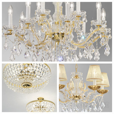 pseudo-36 Luxury meets light: You feel royal when these majestic crystal chandeliers in historical Maria Theresa style light up your room.
