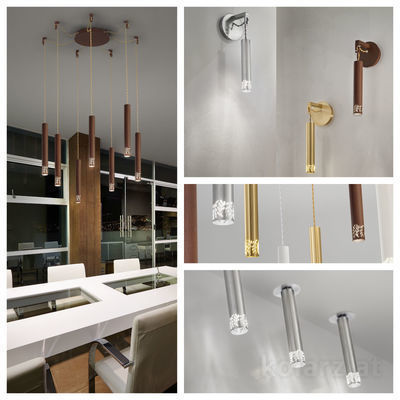 pseudo-5 Stylish metallic pendant lights with cut-out floral shapes. Inspiring design meets exciting light effects.