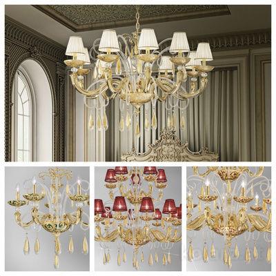 pseudo-41 Kostbare klassische Kronleuchter, von Hand aus feinstem Muranoglas gefertigt. Inspirierende Meisterstücke mit Wow-Effekt.