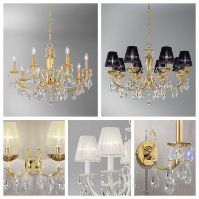 pseudo-30 Majestic crystal chandeliers in various handcrafted designs, crowning perfectly modern and classic settings.
